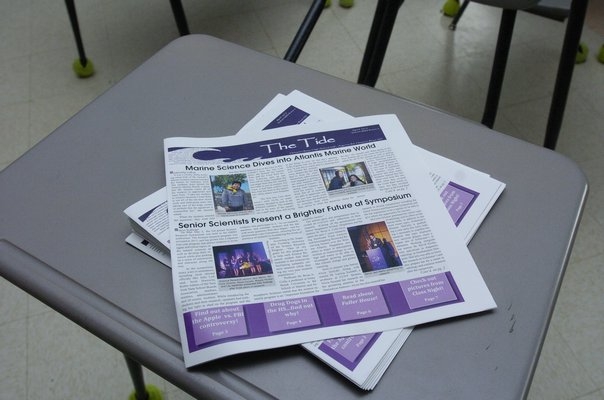 Two students from The Tide took home Quill Awards during Press Day at Adelphi University.