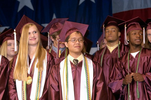 The 2013 Southampton High School Salutatorian and Valedictorian, Lindsay Wickersham and Vincent Ching-Roa were the last to carry the titles which were eliminated.