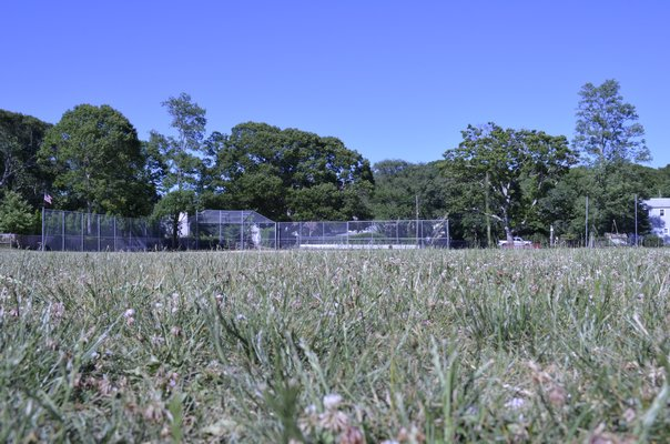 The recreational field behind Pierson Middle-High School will be replanted and maintained by the Bridge Golf Club beginning during the last week of classes. KELLY ZEGERS
