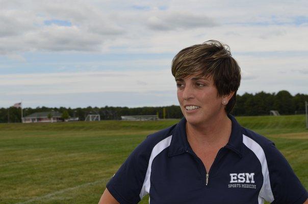 Kathryn Radice, Eastport South Manor Junior Senior High School athletic trainer and health teacher ALEXA GORMAN