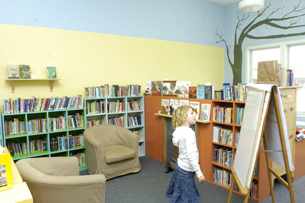 The library at Hayground School