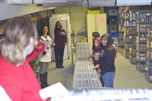 Members of the Tuckahoe student council traveled to Human Resources of the Hamptons on Friday to donate food and clothes on behalf of the Tuckahoe School. BY ERIN MCKINLEY
