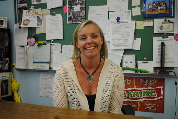 Amy McNamara, a fourth grade teacher at Hampton Bays Elementary School, was nominated Teacher of the Year by Veterans of Foreign Wars. AMANDA BERNOCCO