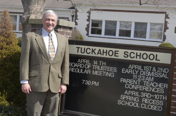 Dr. Phillip Kenter has been working on a solar panel initative for the Tuckahoe Elementary School on Magee Street. BY ERIN MCKINLEY