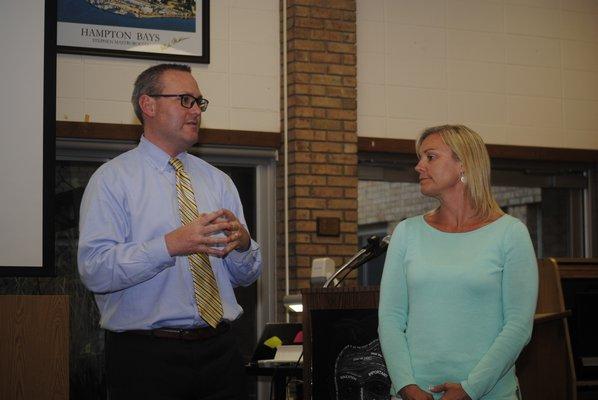 Superintendent Lars Clemensen nominated Amy McNamara for the VFW's Elementary Teacher of the Year. AMANDA BERNOCCO