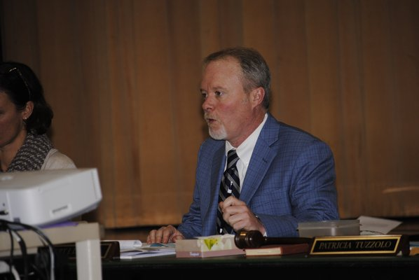 Scenes from the Tuckahoe Board of Education meeting on Monday night. BY ERIN MCKINLEY