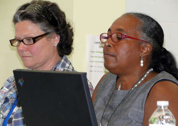 Southampton School Board members Christina Strassfield, left, and Roberta Hunter.