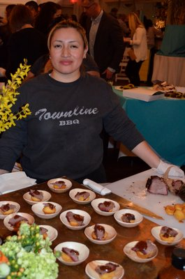 Townline BBQ at the fifth annual Taste of Tuckahoe event on Friday night. BY ERIN MCKINLEY