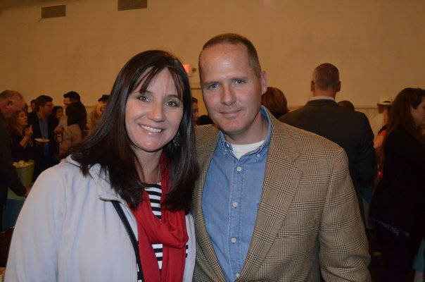 Tuckahoe Principal Arlette Sicari and Board of Education candidate Sean Hattrick at the fifth annual Taste of Tuckahoe event on Friday night. BY ERIN MCKINLEY