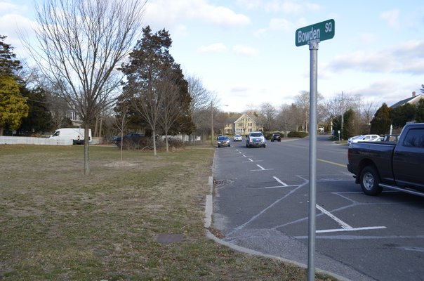 Several parallel parking spaces along Bowden Square are to be removed to make way for the undisclosed bank's driveway, if plans get approved. ANISAH ABDULLAH