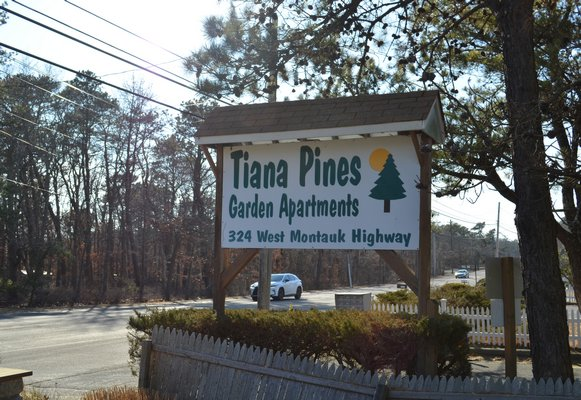 The Tiana Pines Garden Apartments in Hampton Bays is almost through the legal conversion process to be deemed an apartment complex. ANISAH ABDULLAH