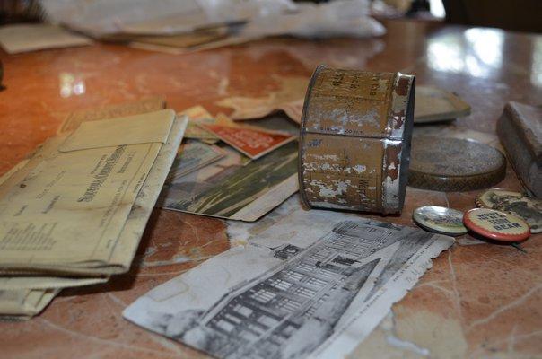 Historical artifacts Rose Nigro found in her floorboards. ALEXA GORMAN