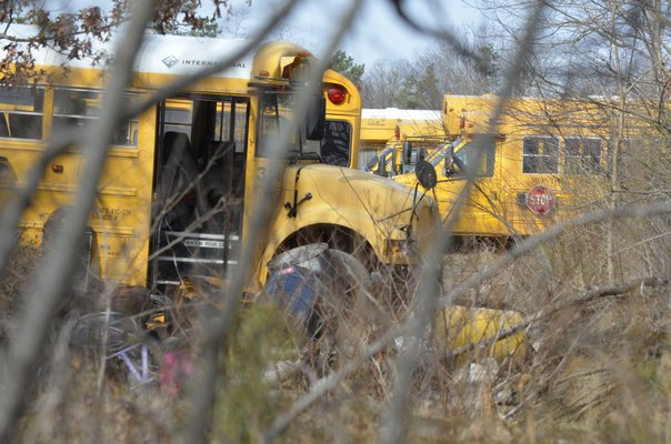 The Montauk Bus Company is being investigated by the Department of Environmental Conservation for potentially illegally dumping dangerous chemical on the property. BY ERIN MCKINLEY