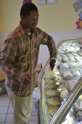 Jared Terry works a few days a week at the Blue Duck Bakery in Southampton. BY ERIN MCKINLEY