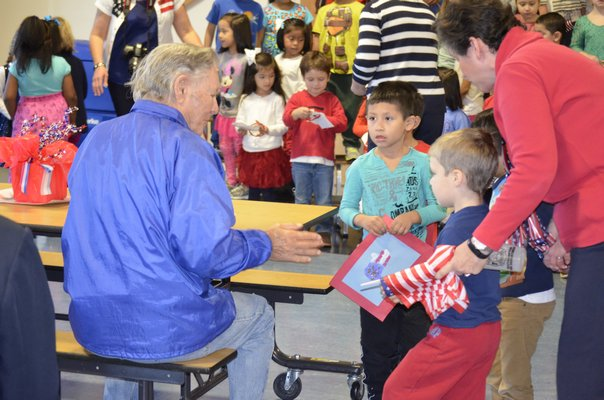 Local veterans were honored on Monday morning with a special breakfast at the Tuckahoe School. BY ERIN MCKINLEY