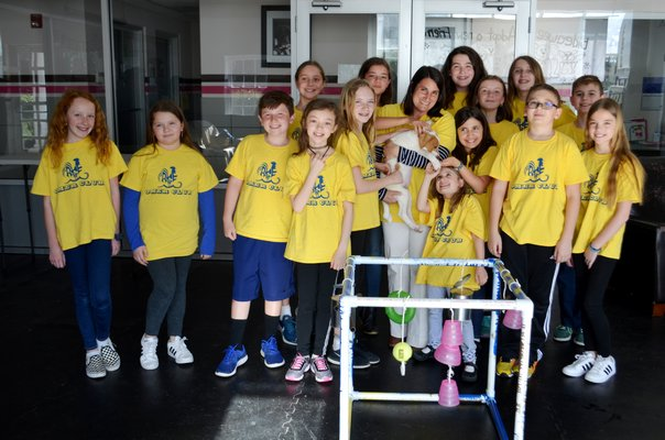 Remsenburg-Speonk Elementary School's Odyssey Angels team will be attending the Odyssey of the Mind World Finals in Michigan later this month for its local effort to help animals get adopted. ANISAH ABDULLAH
