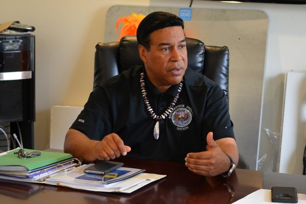 Lance A. Gumbs, vice chairman of the Shinnecock Indian Nation Council of Trustees. ANISAH ABDULLAH