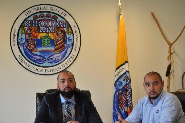 Council Chairman Bryan Polite and Council Treasurer Seneca Bowen. ANISAH ABDULLAH