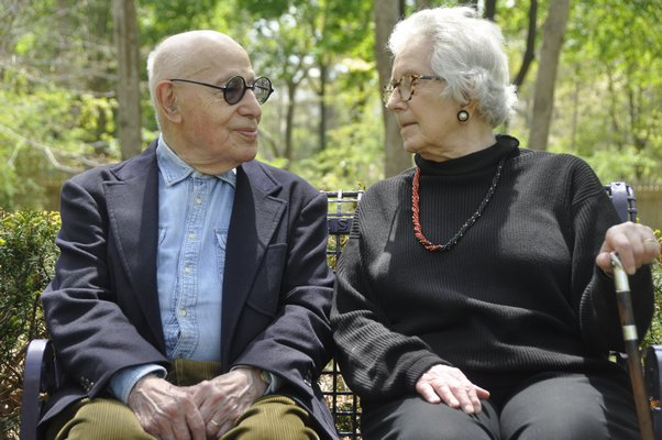 Gerson and Judith Leiber at home in Springs IN 2014.  PRESS FILE