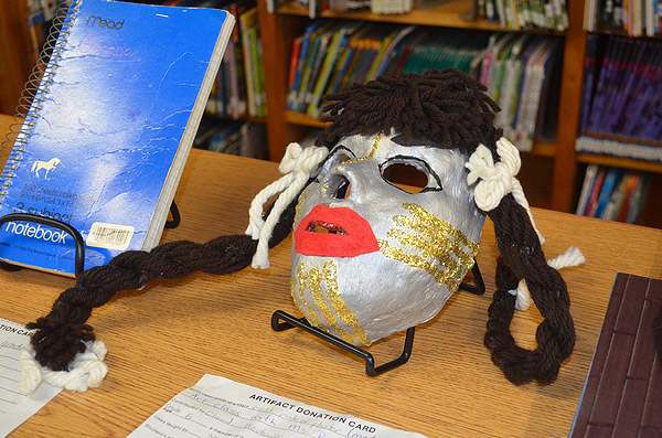 A plaster mask was included in the time capsule. ERIN MCKINLEY