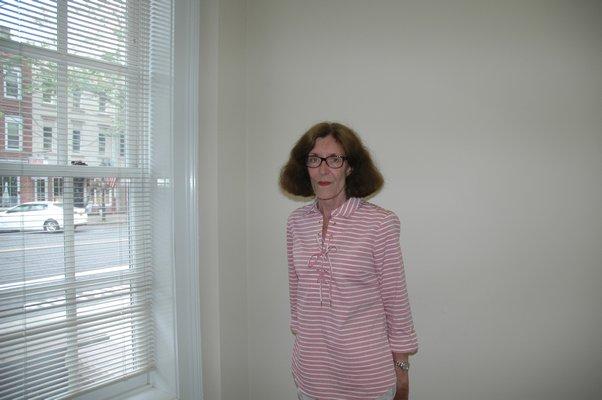 Sandra Schroeder in the Sag Harbor Village clerk's office.