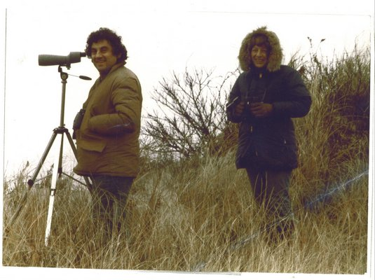 Part-time East Quogue resident Eric Salzman, shown with wife, Lorna Salzman, was a talented composer and avid bird watcher.