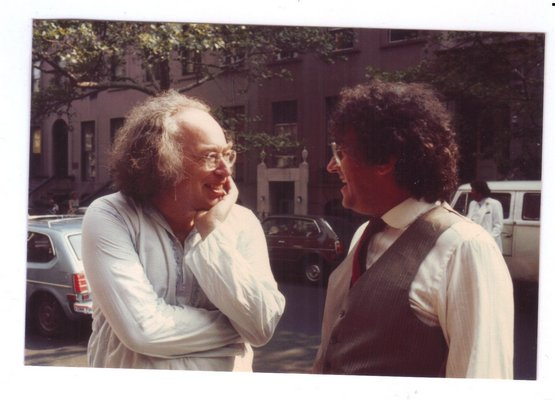 Part-time East Quogue resident Eric Salzman, right, was a talented composer and avid bird watcher.