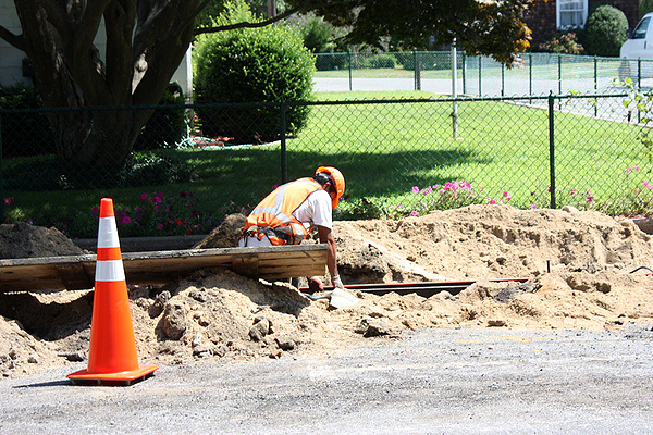 Pine Street in Southampton Village will be closed due to construction.  GEORGE HOLZMAN