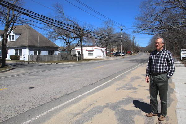 John Potter has led a committee of Springs residents who have pushed for improvements to Springs-Fireplace Road's industrial section when the county repaves the roadway next year.   KYRIL BROMLEY