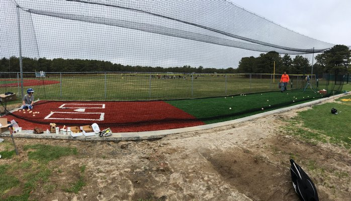 The East End Little League constructed a brand new batting cage at its home field at Hampton West Park in Westhampton. EAST END LITTLE LEAGUE