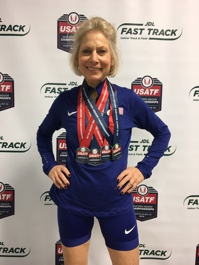 Joyce Flynn won the long and triple jump and placed second in the high jump and 60-meter dash.