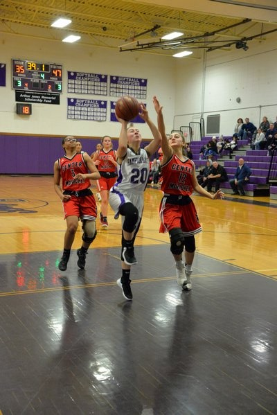 Hampton Bays junior Pam Grajales goes up for two points. MICHELLE MALONE