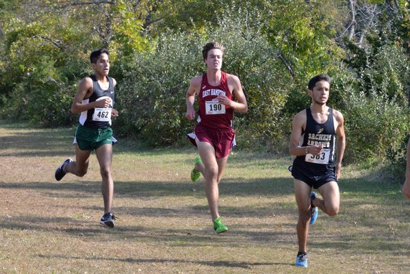 East Hampton senior Ryan Fowkes placed second in the Division III Championship race on Tuesday. MICHELLE MALONE