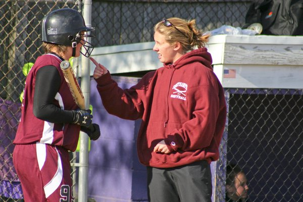 Virginia McGovern, who became coach of the Southampton varsity softball team in 2006, was forced to step down earlier this month.  CAILIN RILEY CAILIN RILEY