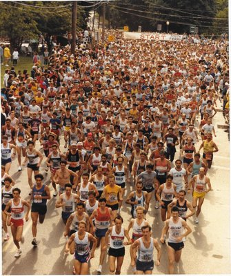 The start of the 10K in 1988.