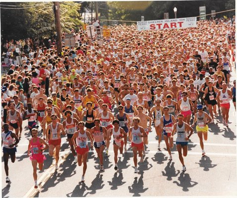 The start of the 1991 Shelter Island 10K.