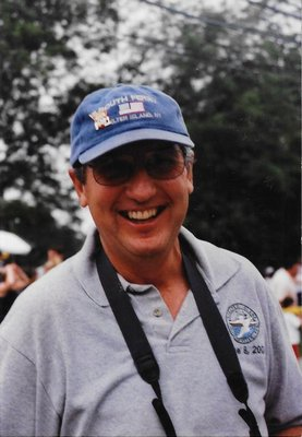 Cliff Clark, who helped create the Shelter Island 10K, in 2003.