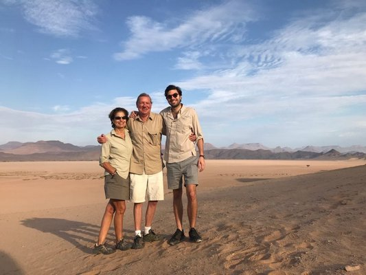 From left, Sissi, Edgar and Vincent Bohlen. Edgar and Vincent were killed in a car accident while they were on safari in Namibia on January 25.