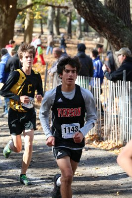 Whaler Peter Schaefer during the Class C state race on Saturday at Sunken Meadow. JOE AMATO