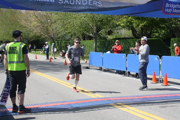 Second-place finisher Dan McGrath of Rockville Center.   CAILIN RILEY