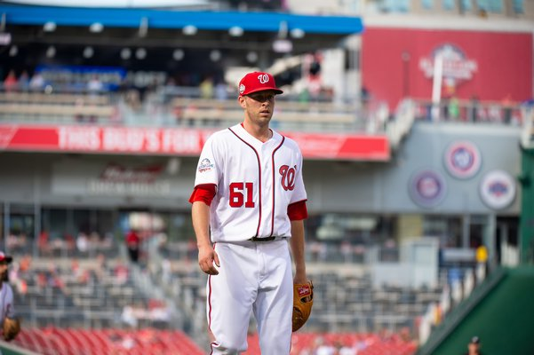 Kyle McGowin, a 2010 Pierson High School graduate, has earned a spot in the pitching rotation for the Washington Nationals this year. It's his second time up in the majors, after several years of minor league play. COURTESY OF THE WASHINGTON NATIONALS BASEBALL CLUB