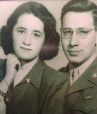 Judith and Gerson Lieber just after WWII.