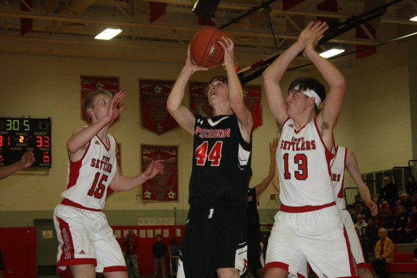 Pierson freshman Wilson Bennett led his team with 27 points in the playoff loss to Southold on Monday night. CAILIN RILEY