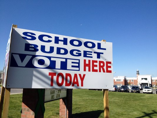 Voters in area school districts headed to the polls on Tuesday. BY DANA SHAW
