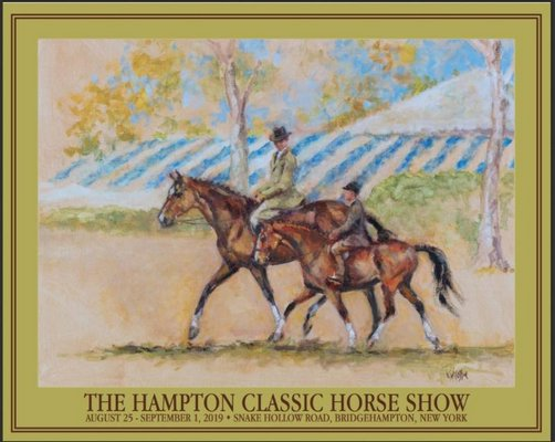The 2019 Hampton Classic poster by Kelly Wilkinson Coffin