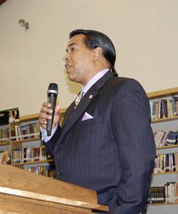 Former tribal trustee Lance Gumbs