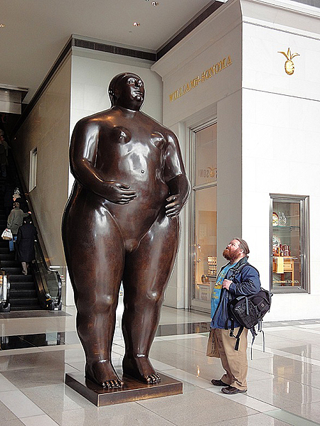 Botero woman, 59th Street & Columbus Avenue. MARGERY HARNICK