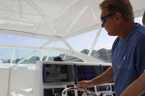 Gregg Desantis, Center Moriches boater and resident, takes his 40-