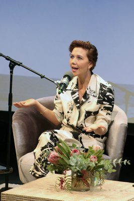 A Conversation With Maggie Gyllenhaal at Bay Street Theater.  TOM KOCHIE