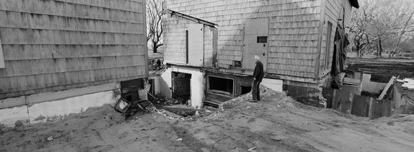 Edmund Carpenter gazes at his home on Further Lane. ZAK POWERS